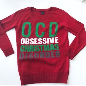 LOL Vintage Red OCD Christmas Shirt Size XS